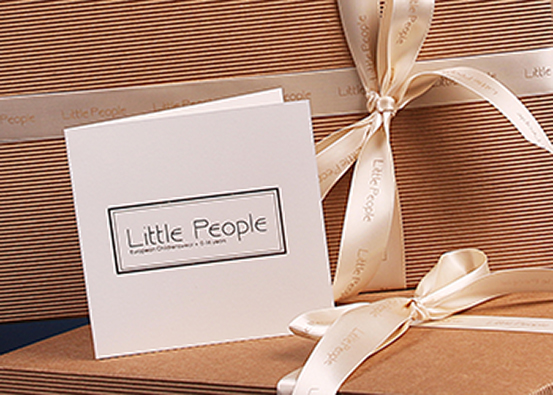 Little People children's clothing - gift voucher and box