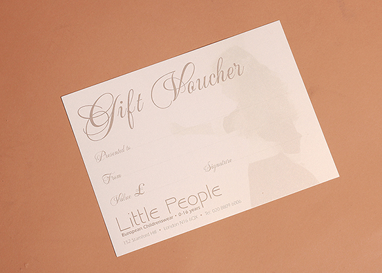 Little People children's clothing - Gift voucher